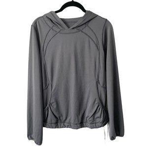 Lululemon Grey Long Sleeve with Hood Jersey Top
